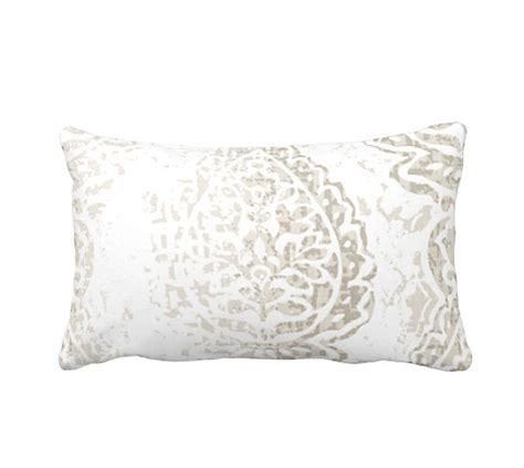 What Size Is A Lumbar Pillow by 7 Sizes Available Taupe Lumbar Pillow Taupe Throw Pillow