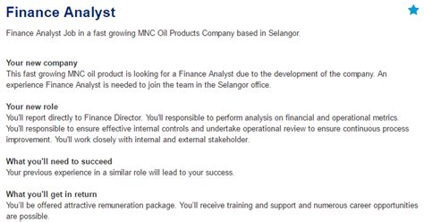 design engineer job vacancy selangor oil gas vacancies finance analyst selangor