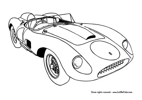 coloring pages of vehicles coloring ferrari letmecolor