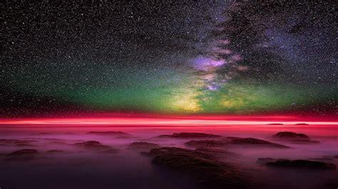 starry night landscape hd wallpaper backiee  ultra