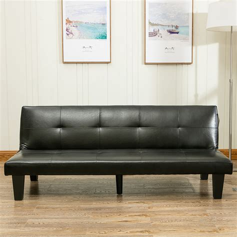 lounge futon belleze 69 quot leather faux fold futon lounge