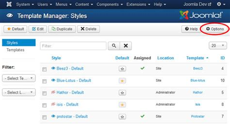 joomla template manager how to check template module positions