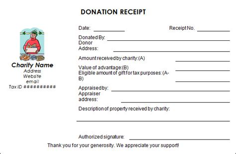 charity receipt template 16 donation receipt template sles templates assistant