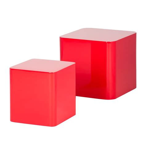 beistelltisch rot 2er set beistelltisch rot hochglanz couchtisch wohnzimmer