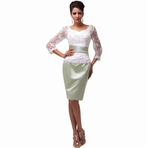 cocktail dress for bride malaysia cheap backless 3 4 sleeve lace short gown mother bride