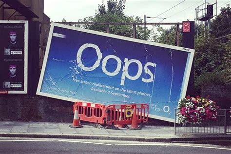 cracked billboards  london advertise  service fixing