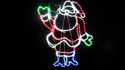 waving santa christmas lights light silhouettes multi colour led waving santa