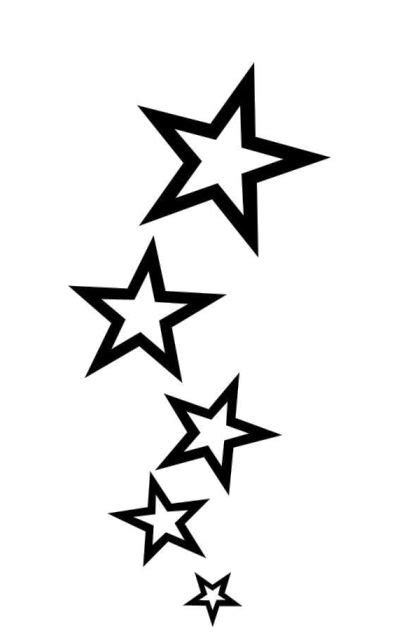 simple star tattoos simple shooting designs tattos for