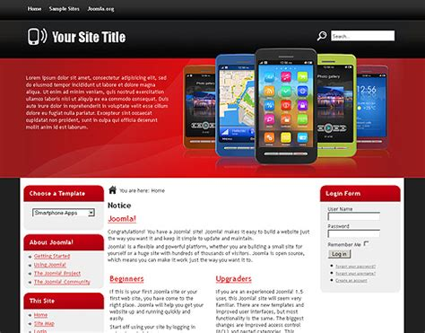 blogger templates for mobile phones free templates blog 187 joomla 1 7 x 187 smartphone apps is a