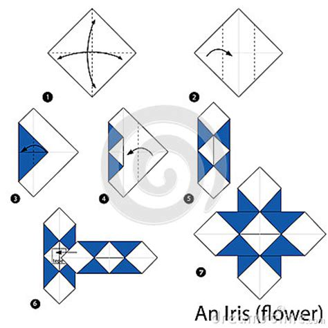 How To Make Origami Cards Step By Step - step by step how to make origami an iris