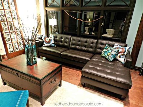 best couch ever best brown leather sectional ever redhead can decorate
