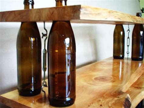 wine bottles shelves recycled ideas recyclart