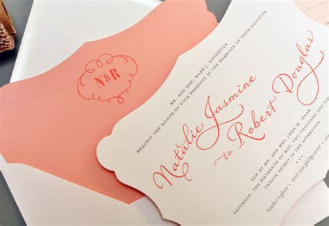 die cut wedding invitations by smitten on paper invitation crush