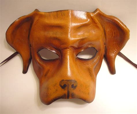 leather puppy mask brown leather mask by teonova on deviantart