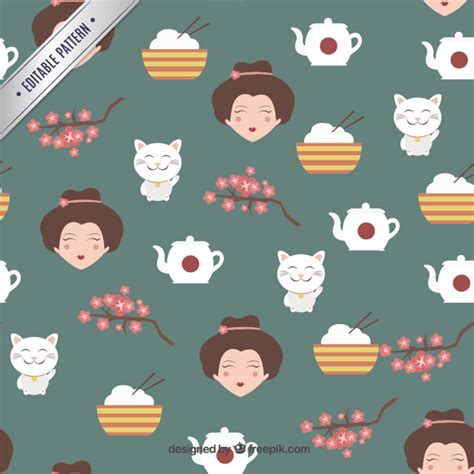 japanese pattern ai download japanese culture pattern vector premium download