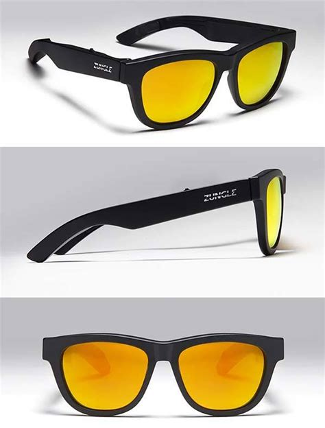 Shady Beats Sunglasses With Built In Speaker by Zungle Panther Sunglasses Boast Built In Bone Conduction
