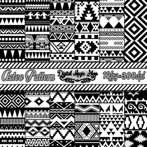 12 free seamless paper patterns graphicsfuel 12 seamless black and white aztec digital paper ikat