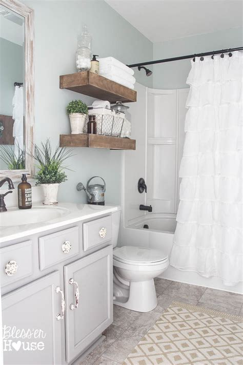 Simple Small Bathroom Makeovers by Modern Farmhouse Bathroom Makeover Reveal