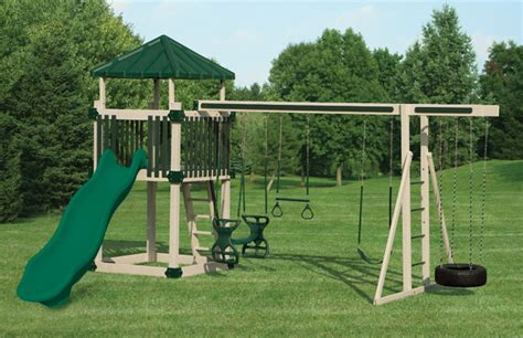 swing set rows large selection of vinyl swingsets for backyard play