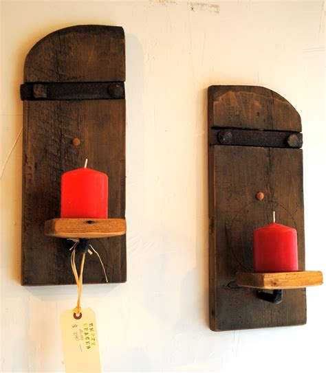 rustic wall mounted candle sconces set of 2 empty spaces