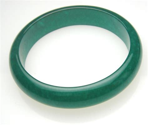 C453 Green jade bangle translucent jae bangle in green