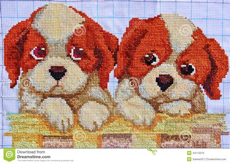 embroidery design cross stitch embroidery and cross stitch design stock photo image