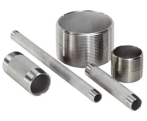 Nepel Nepple Stainless Steel 304 Dia 1 3 quot x 6 quot schedule 40 pipe 316l ace stainless supply