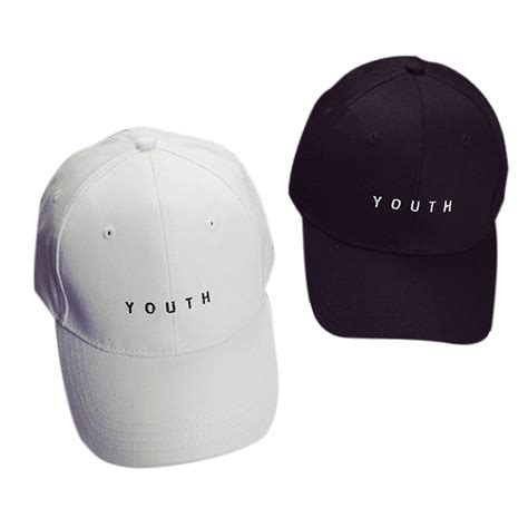 topi baseball youth caps letter sport fashion white