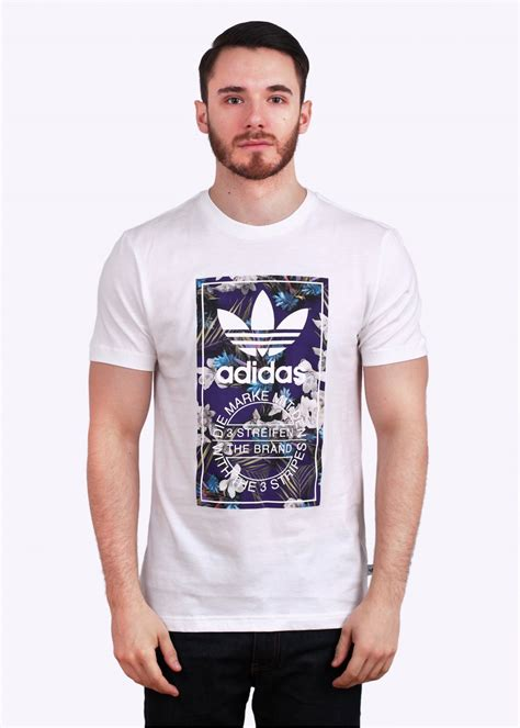 Flora Shirt White adidas originals flora label white
