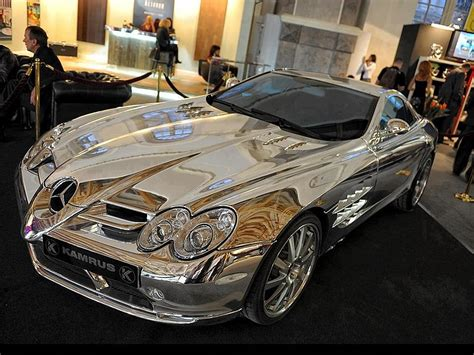 expensive cars gold white gold mercedes