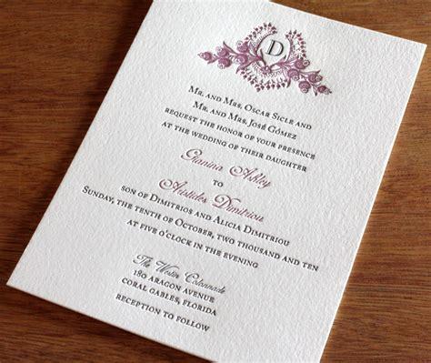 what monogram do you put on wedding invitations custom monogram wedding invitation gallery cathryn