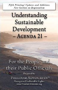 understanding sustainable development books freedom advocates report agenda 21 news