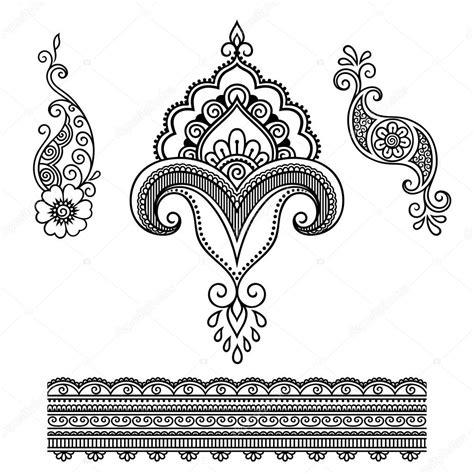 henna tattoo prijs henna bloem sjabloon mehndi stockvector 169 rugame