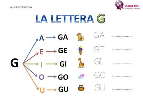 le lettere pi禮 d la lettera g e le sue sillabe 176 imparare a leggere e