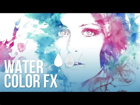 tutorial photoshop italiano effetto acquerello watercolor effect tutorial photoshop