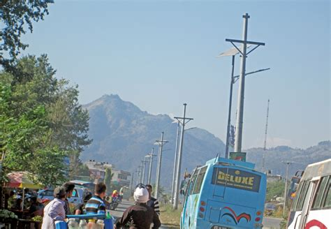 solar light in nepal 50 000 solar ls being installed along streets