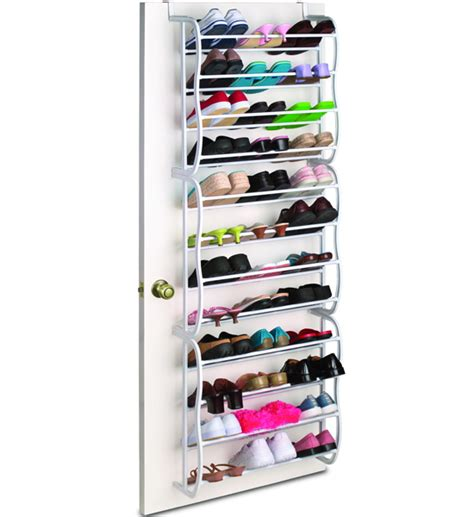 the door shoe rack 36 pair white in the door
