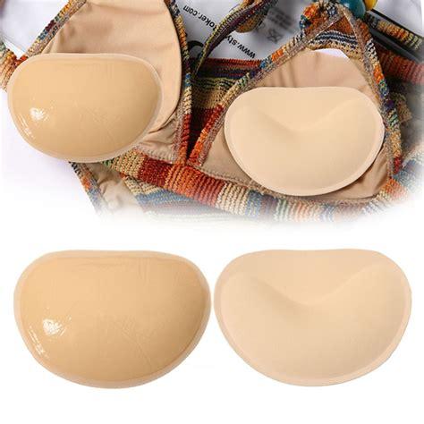 Adhesive Bra Pad 1pair stick on adhesive push up bra inserts pads breast