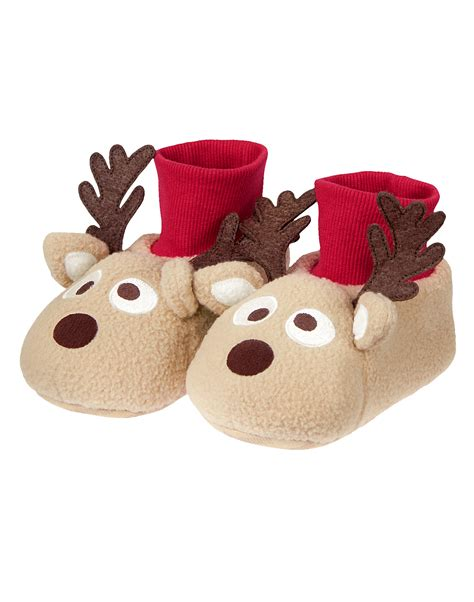 christmas house shoes christmas inspired reindeer slippers for kids nationtrendz com