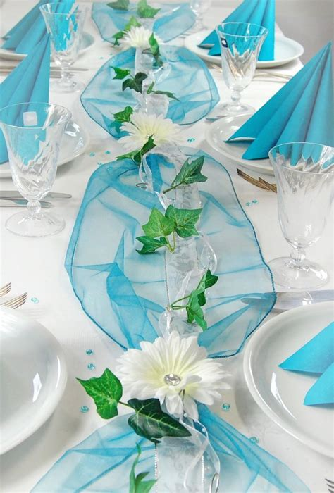 Komplette Tischdeko Hochzeit by Komplette Tischdeko In T 252 Rkis Petrol F 252 R Kommunion