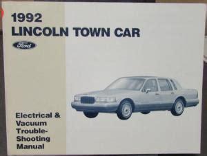 car engine manuals 1992 lincoln continental mark vii head up 1992 lincoln town car mark vii continental sales brochure