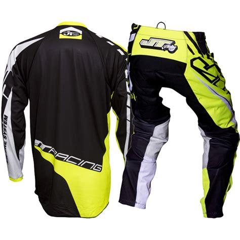 jt racing motocross gear new jt racing 2017 mx flex victory black yellow jersey