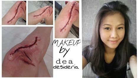 youtube membuat eyeliner cara membuat makeup luka kaki sfx halloween 2015 diy