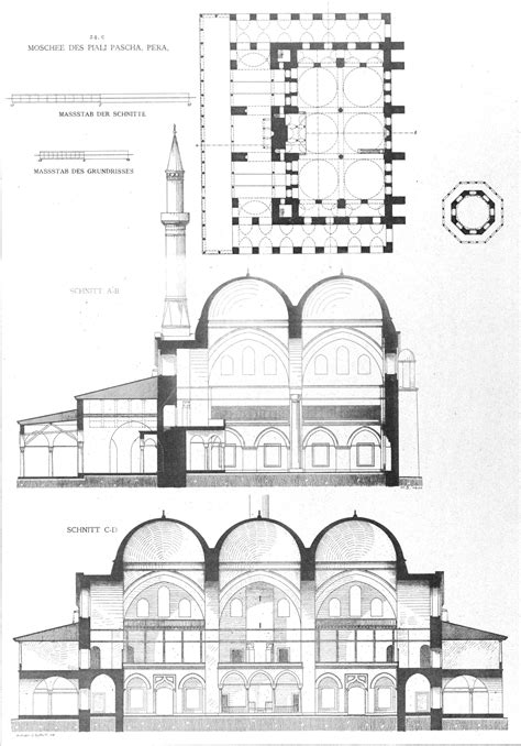 masjid design plan ortak 246 y mosque plan google search colonnade