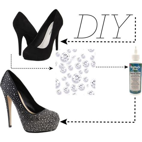 diy pumps shoes quot diy rhinestone high heels quot by hollyisme on polyvore