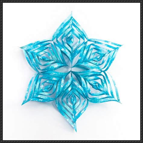 Snowflake Paper Craft - papercraftsquare december 2014