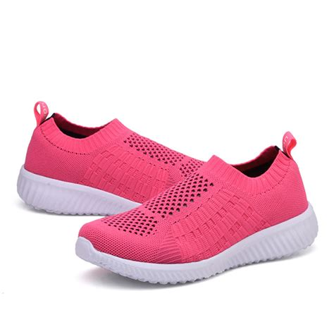 running in flat shoes casual soft mesh sport running outdoor flat shoes