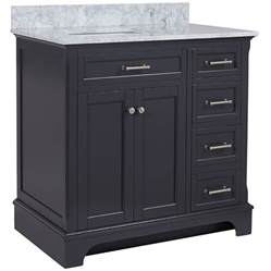 bathroom vanity undermount sink shop allen roth roveland gray undermount single sink