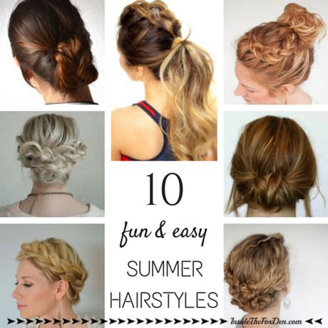 Easy Summer Hairstyles by Easy Summer Hairdos