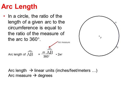 circumference and arc length ppt